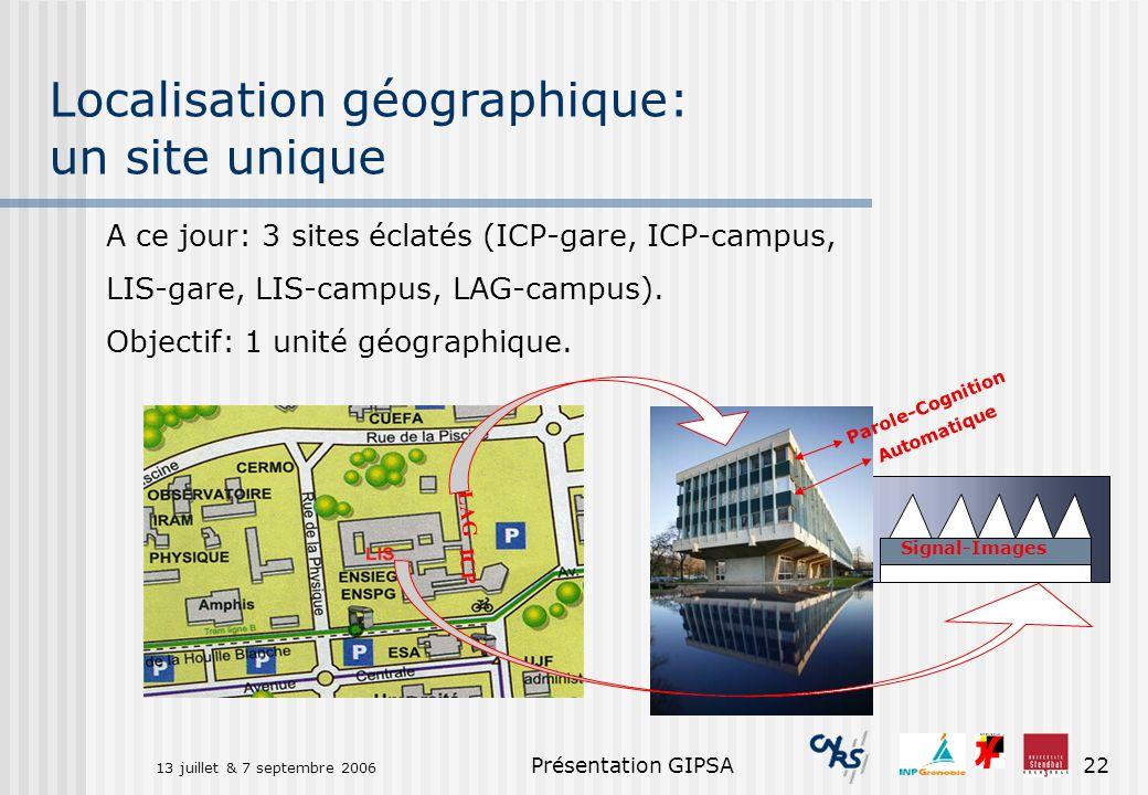 Localisation géographique: un site unique