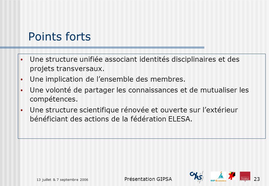 Points forts Une structure unifiée associant identités disciplinaires et des projets transversaux. Une implication de l'ensemble des membres.