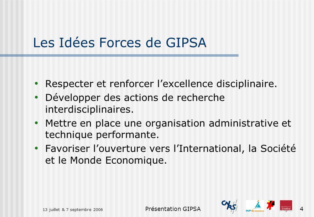 Les Idées Forces de GIPSA