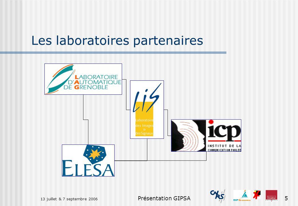 Les laboratoires partenaires