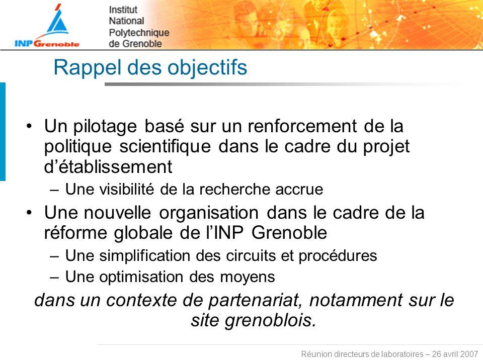 dans un contexte de partenariat, notamment sur le site grenoblois.