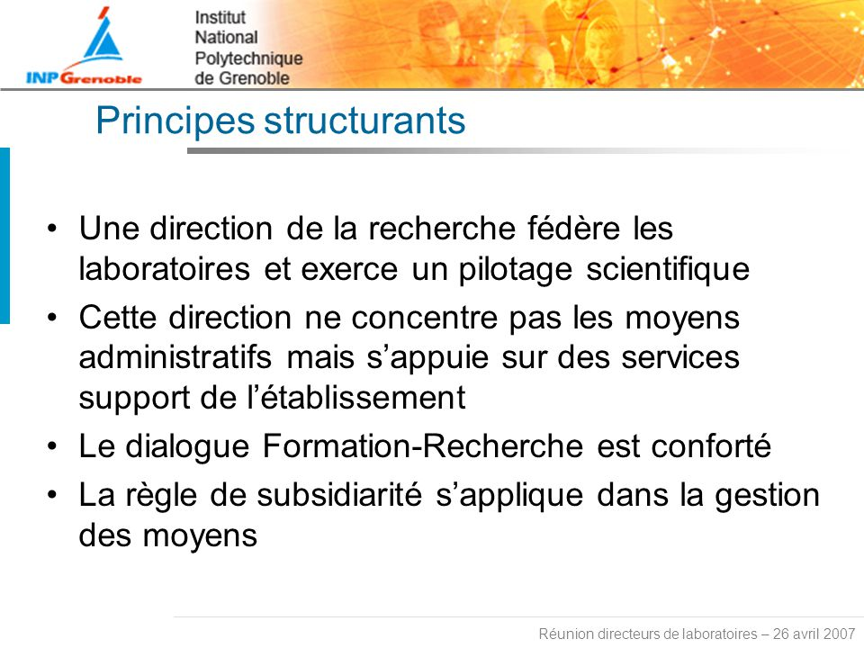 Principes structurants