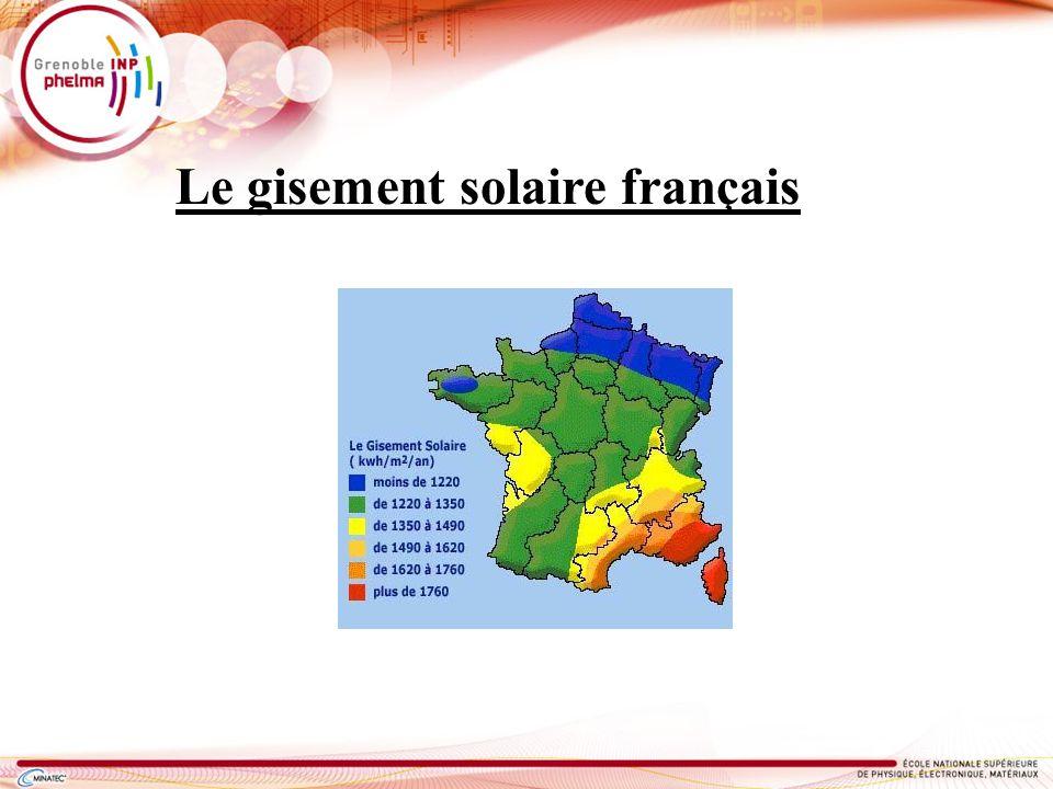Le gisement solaire français