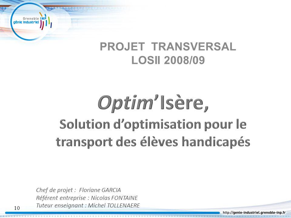 PROJET TRANSVERSAL LOSII 2008/09