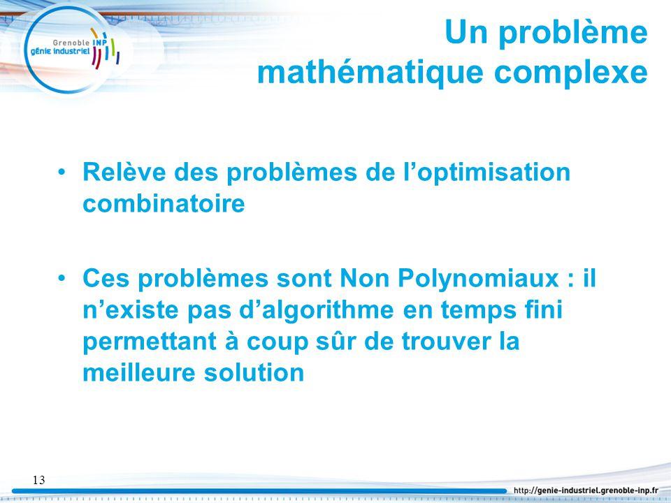 Un problème mathématique complexe