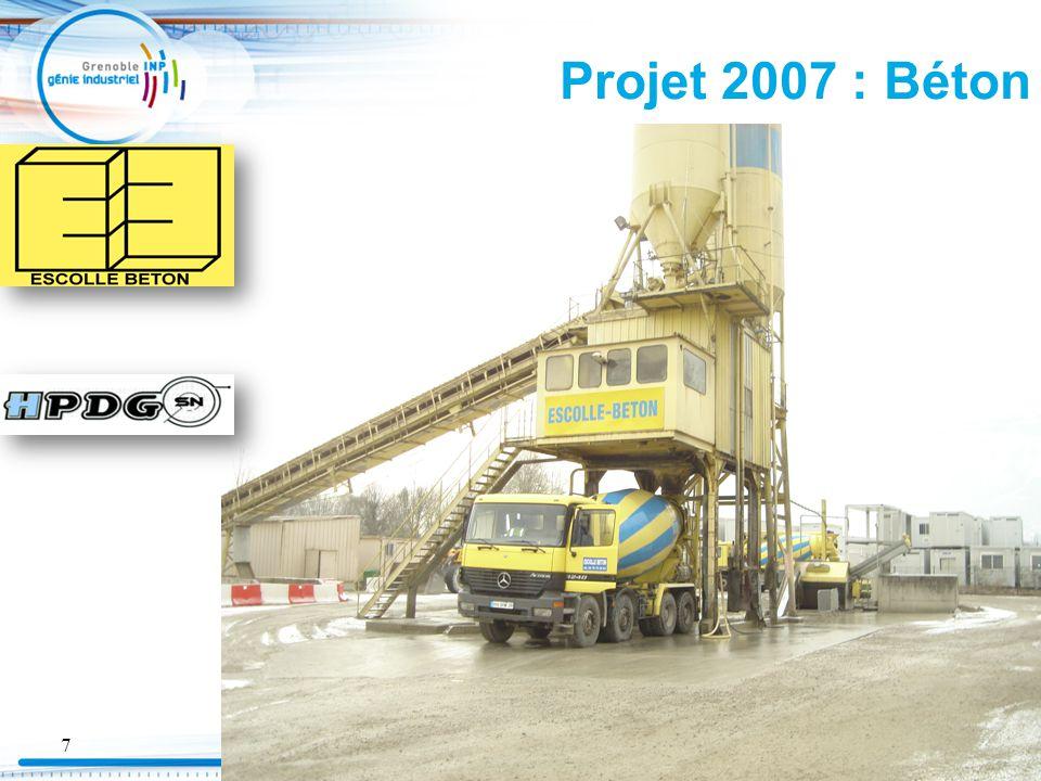 Projet 2007 : Béton