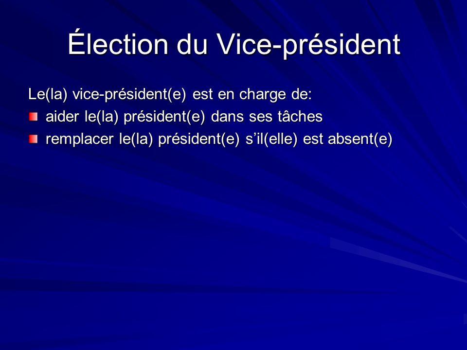 Élection du Vice-président