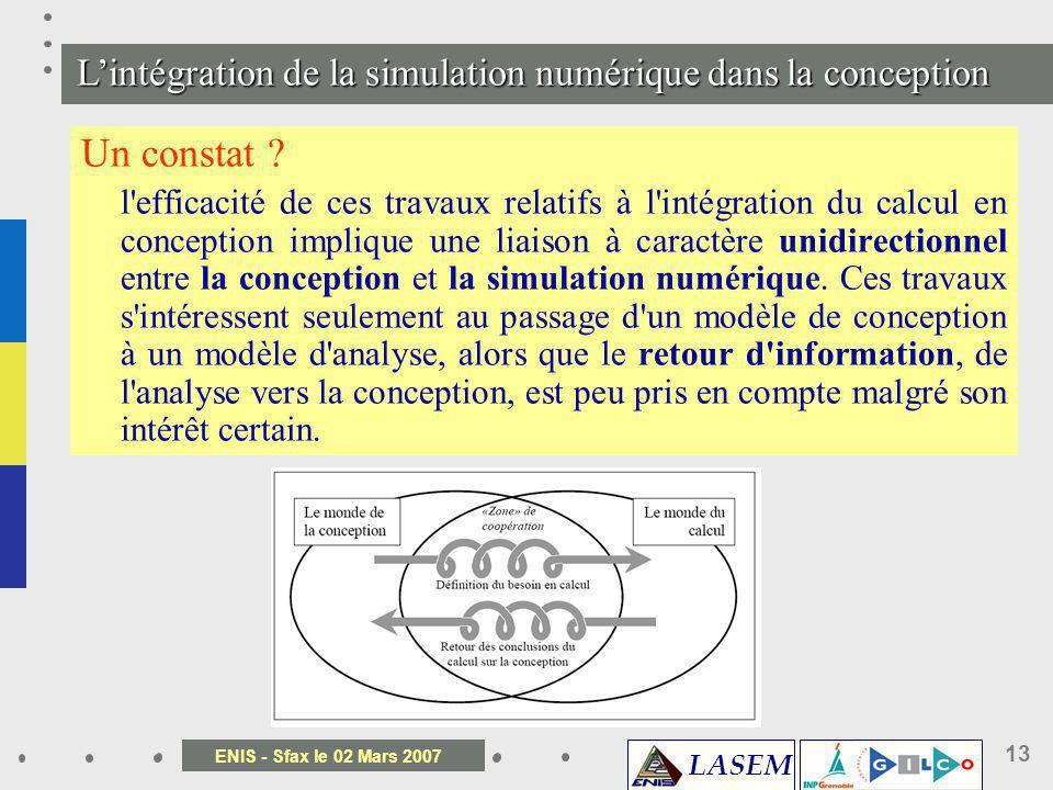 L'intégration de la simulation numérique dans la conception