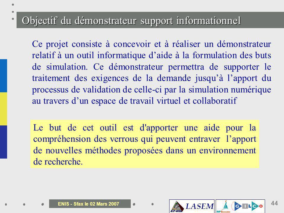 Objectif du démonstrateur support informationnel