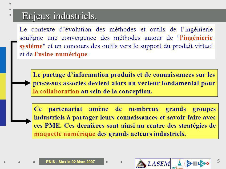 Enjeux industriels.