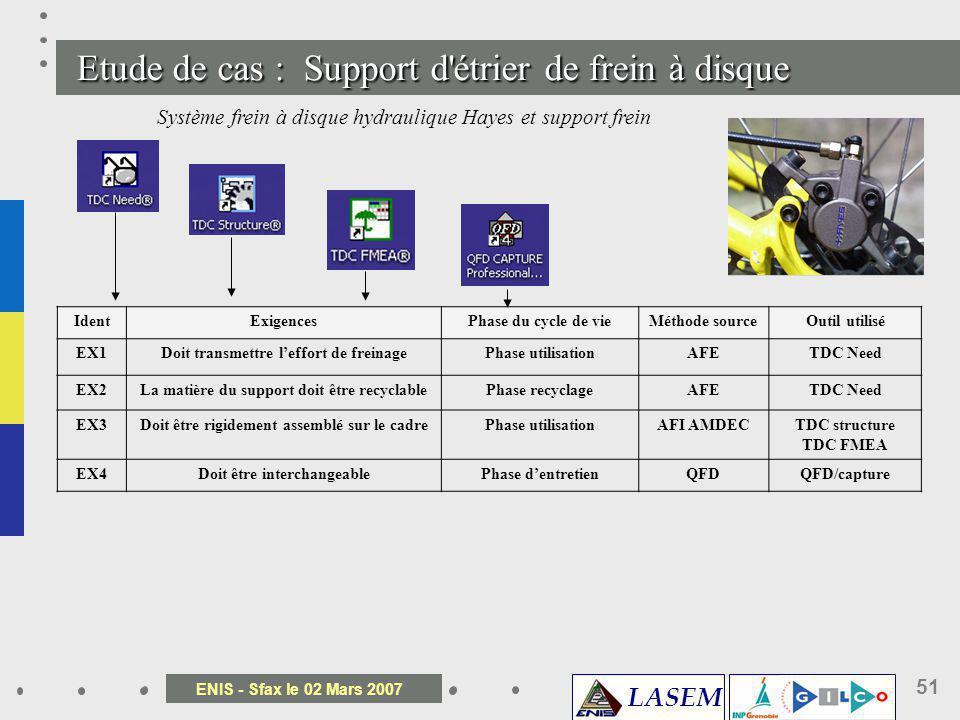 Etude de cas : Support d étrier de frein à disque