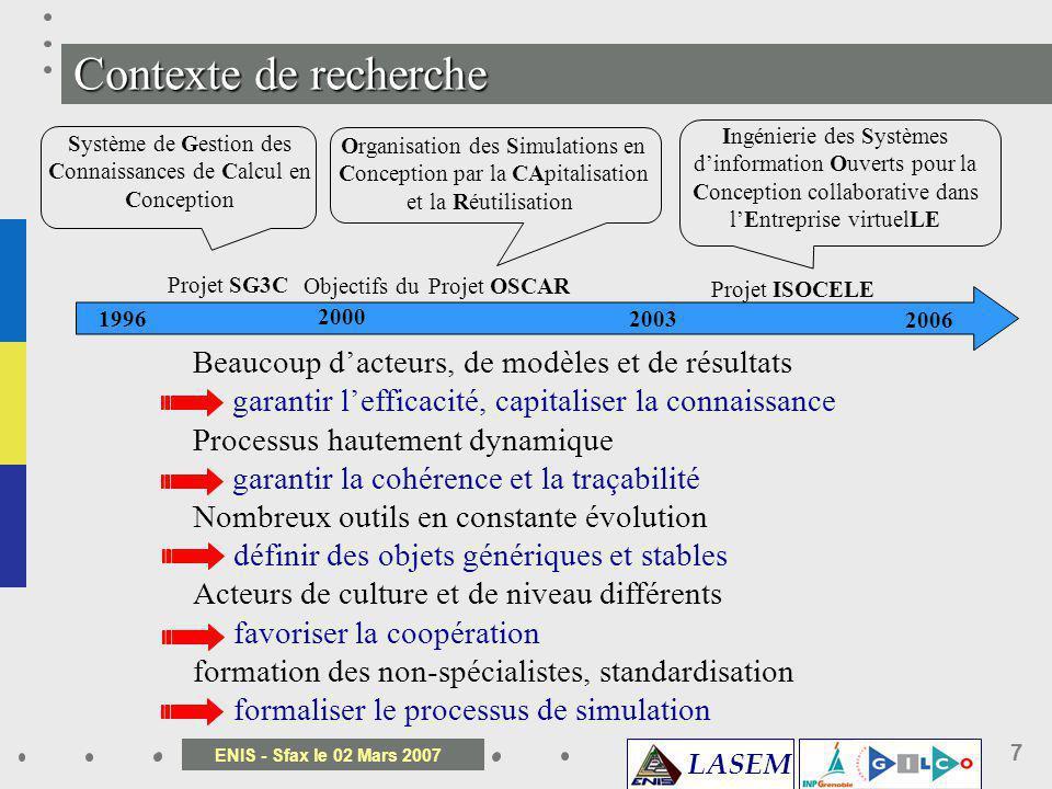 Objectif du projet OSCAR Objectif du projet ISOCELE