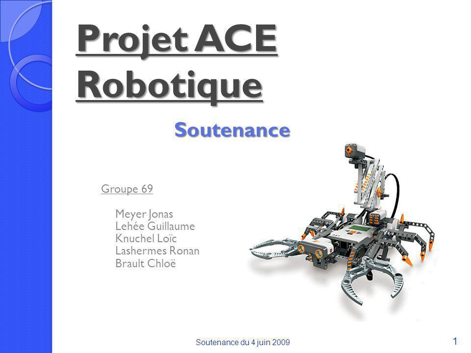 Projet ACE Robotique Soutenance Groupe 69 Meyer Jonas Lehée Guillaume