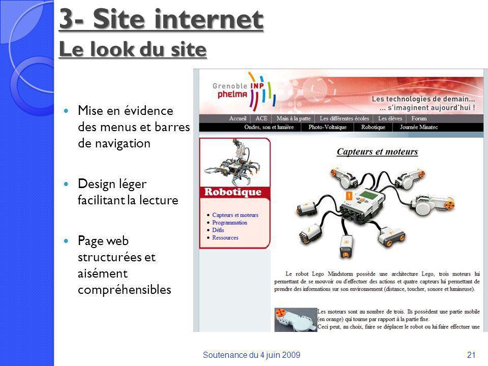 3- Site internet Le look du site