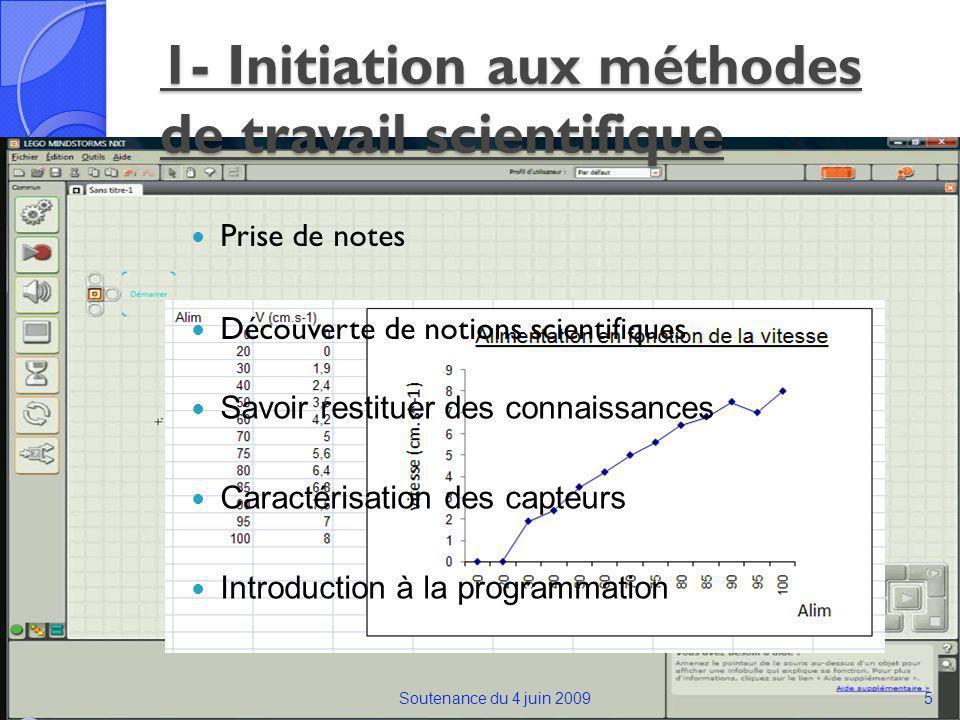1- Initiation aux méthodes de travail scientifique