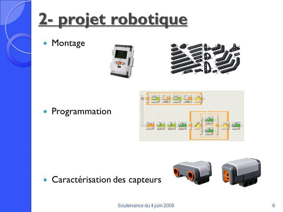 2- projet robotique Montage Programmation Caractérisation des capteurs