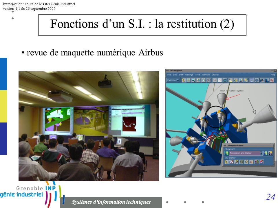 Fonctions d'un S.I. : la restitution (2)