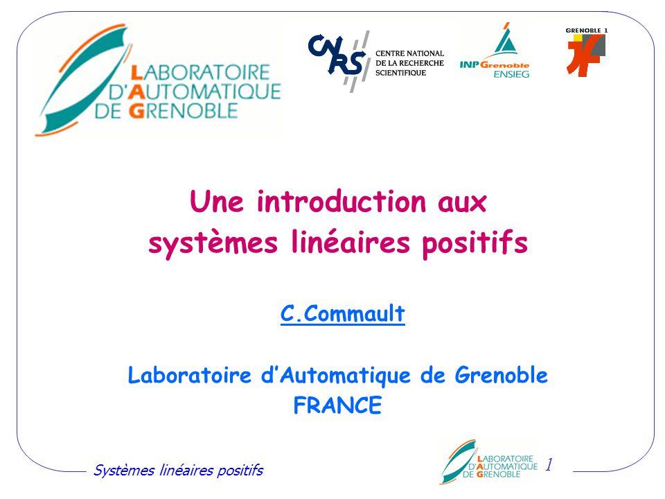 Une introduction aux systèmes linéaires positifs C
