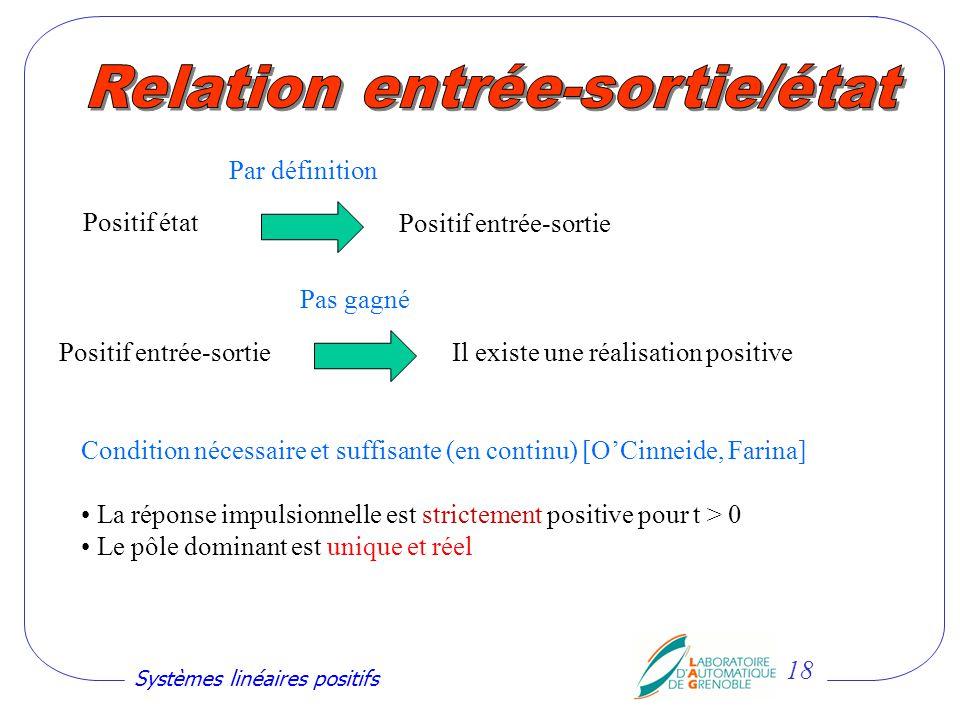 Relation entrée-sortie/état
