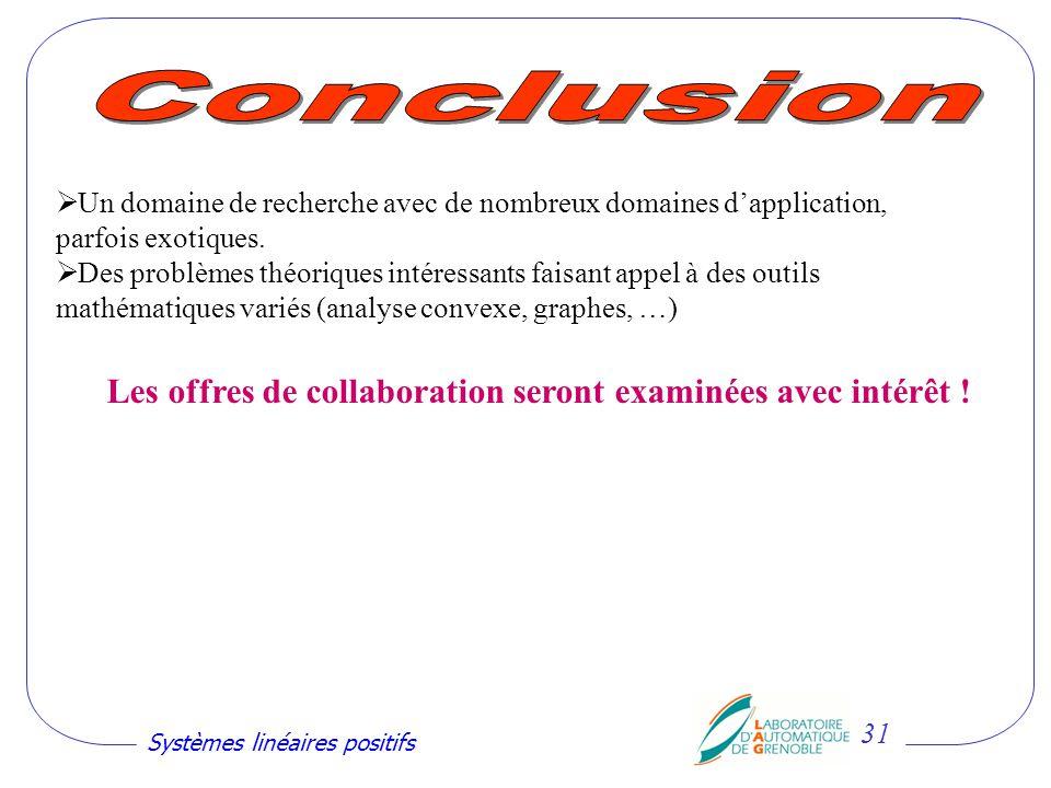 Les offres de collaboration seront examinées avec intérêt !