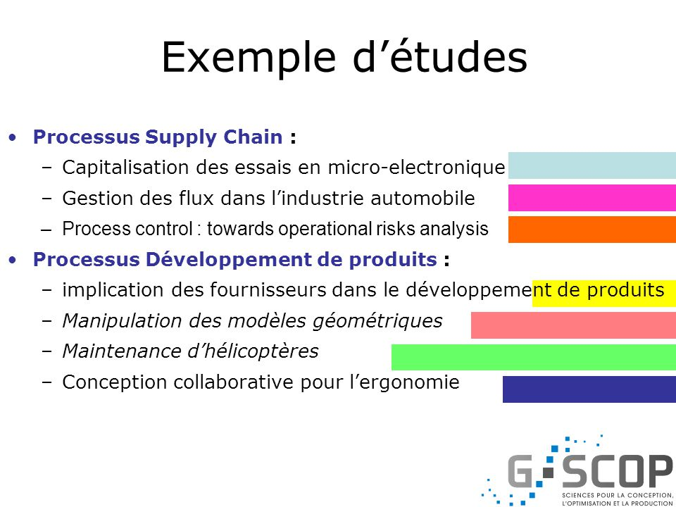 Exemple d'études Processus Supply Chain :