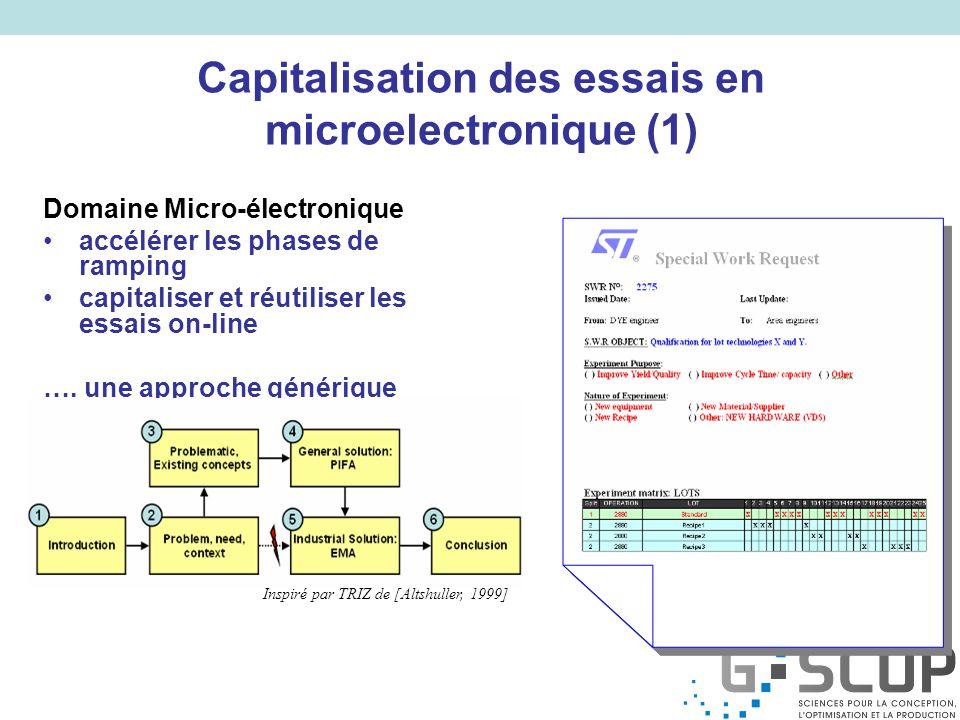 Capitalisation des essais en microelectronique (1)