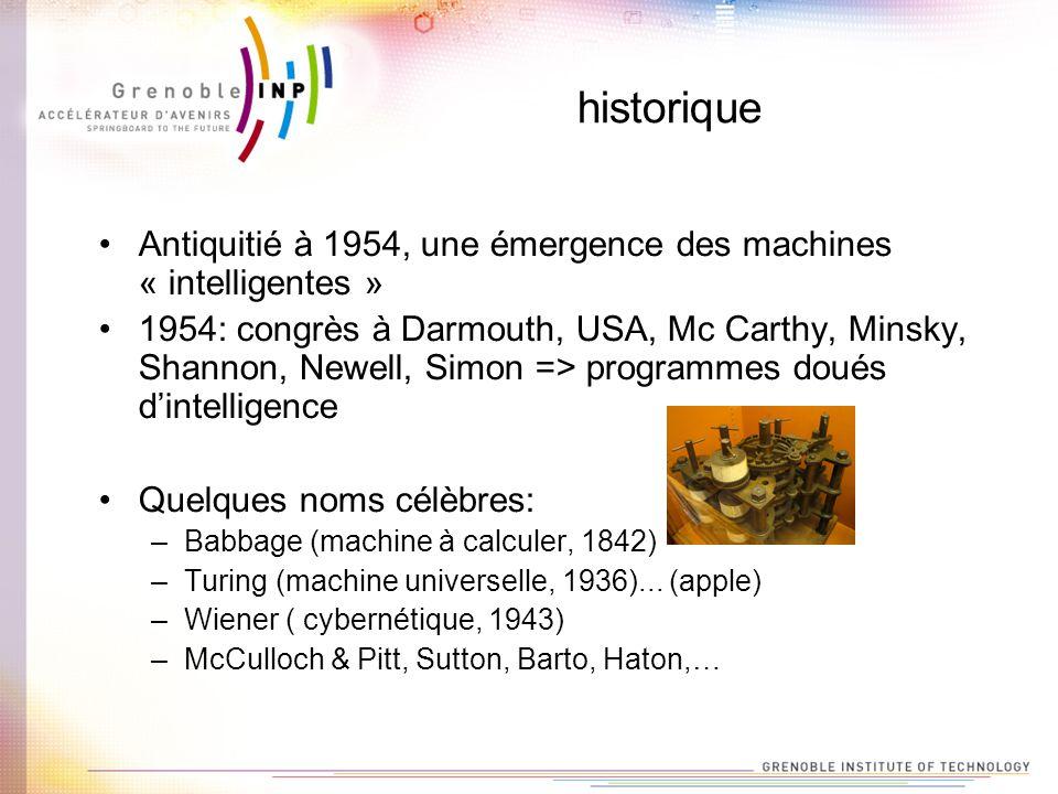 historique Antiquitié à 1954, une émergence des machines « intelligentes »