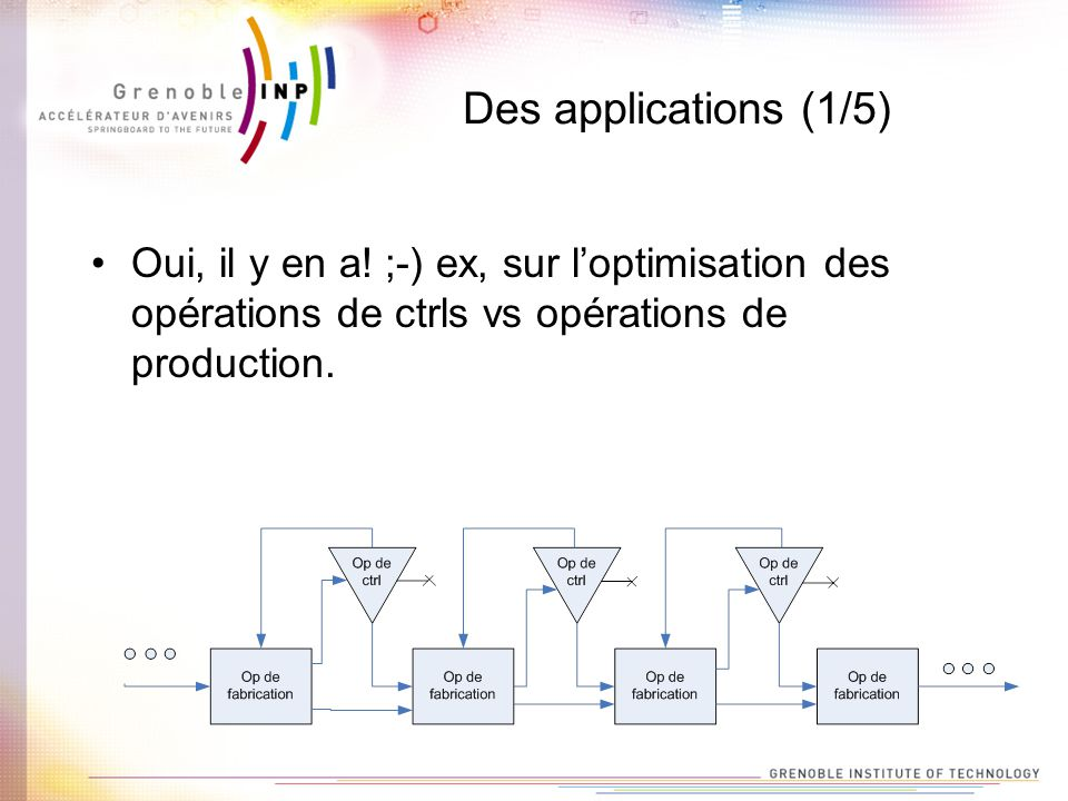 Des applications (1/5) Oui, il y en a.