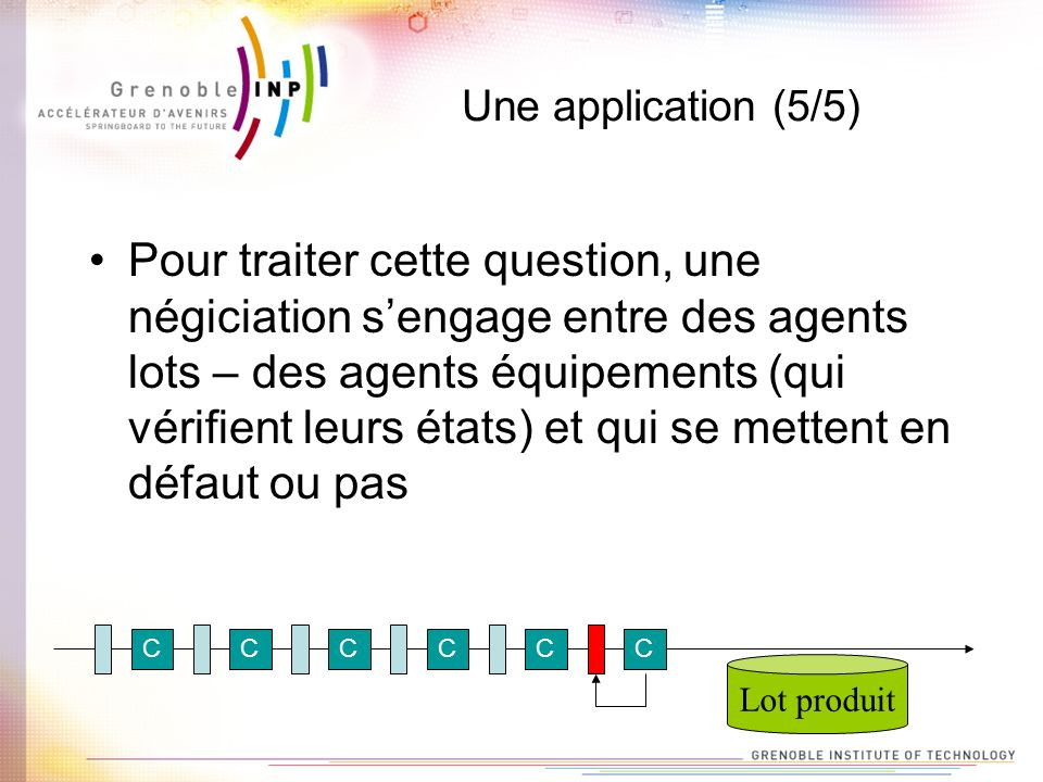 Une application (5/5)