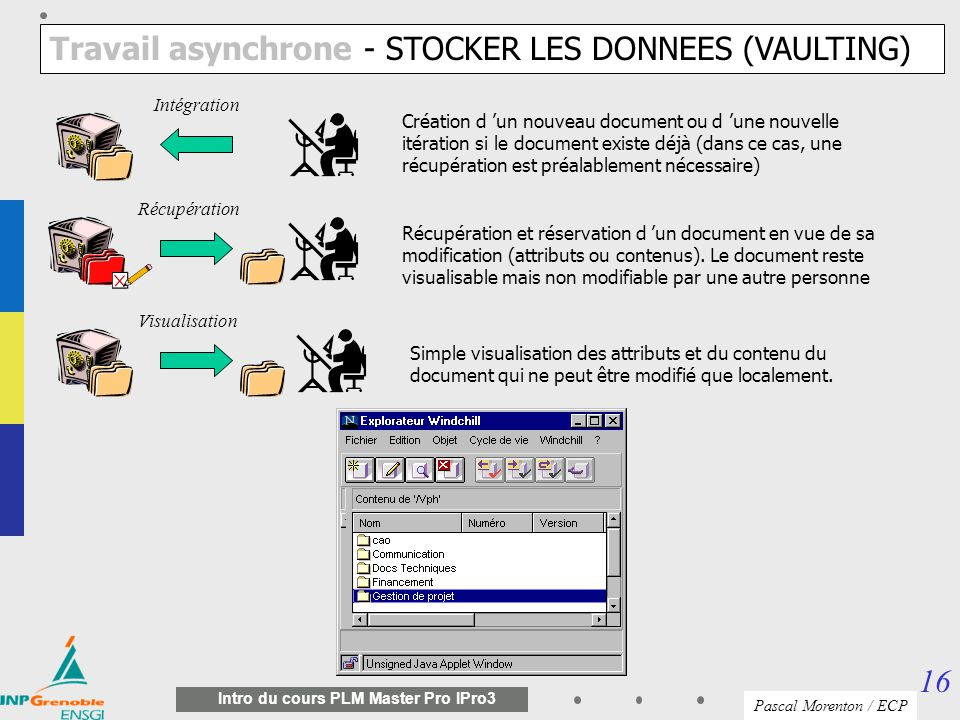 Travail asynchrone - STOCKER LES DONNEES (VAULTING)