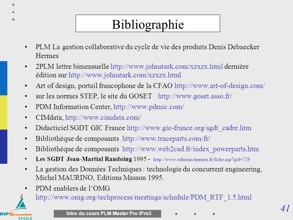 Bibliographie PLM La gestion collaborative du cycle de vie des produits Denis Debaecker Hermes.