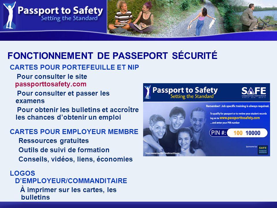 FONCTIONNEMENT DE PASSEPORT SÉCURITÉ