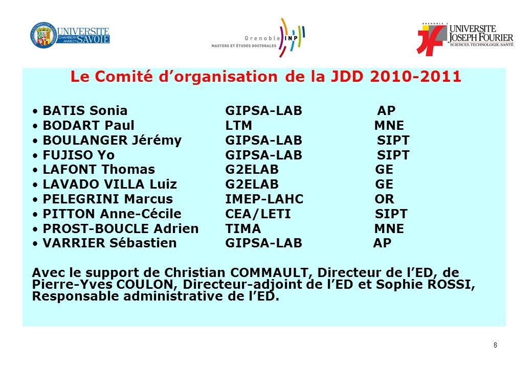Le Comité d'organisation de la JDD 2010-2011