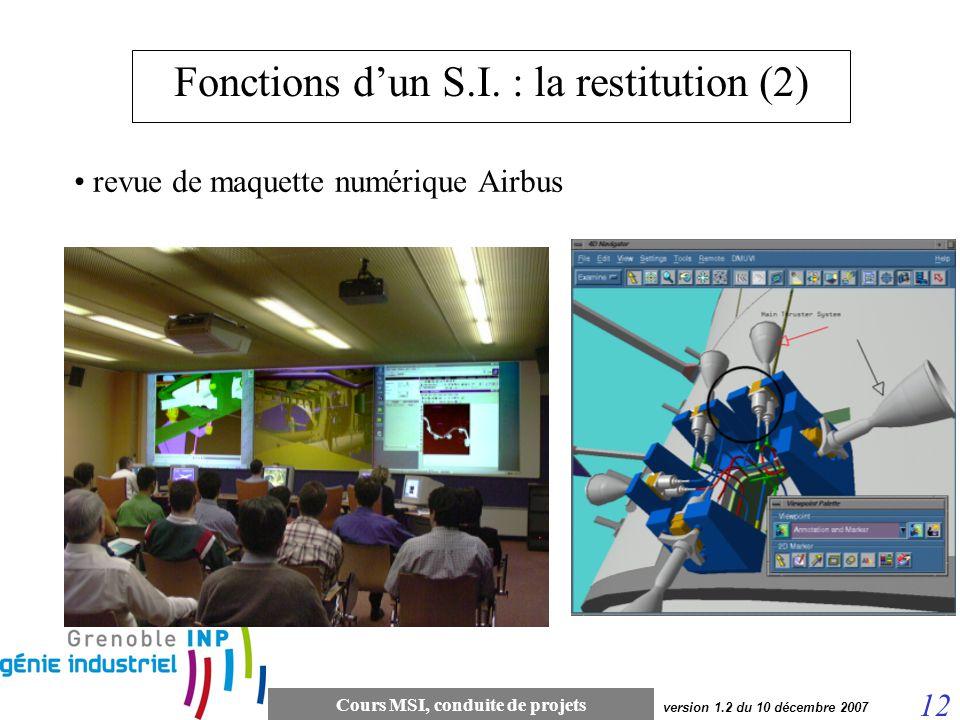 Fonctions d'un S.I. : la restitution (2)