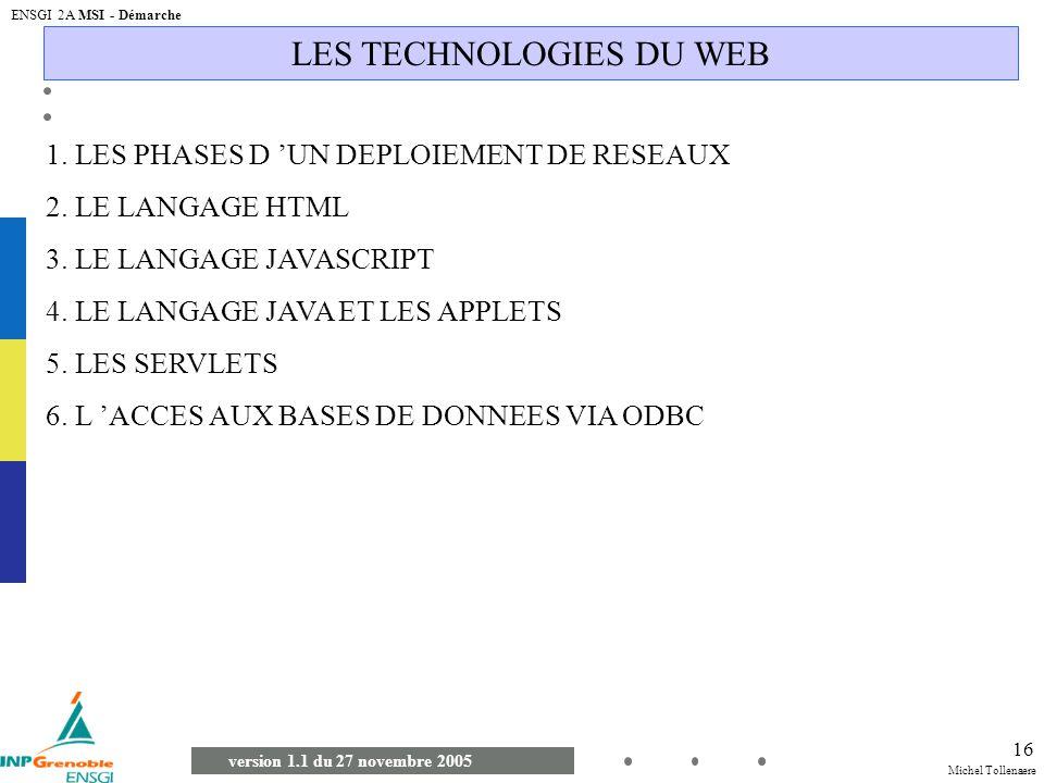 LES TECHNOLOGIES DU WEB