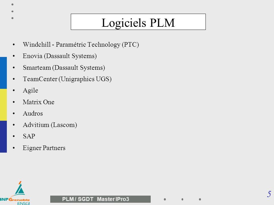 Logiciels PLM Windchill - Paramétric Technology (PTC)