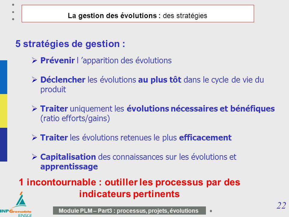 La gestion des évolutions : des stratégies