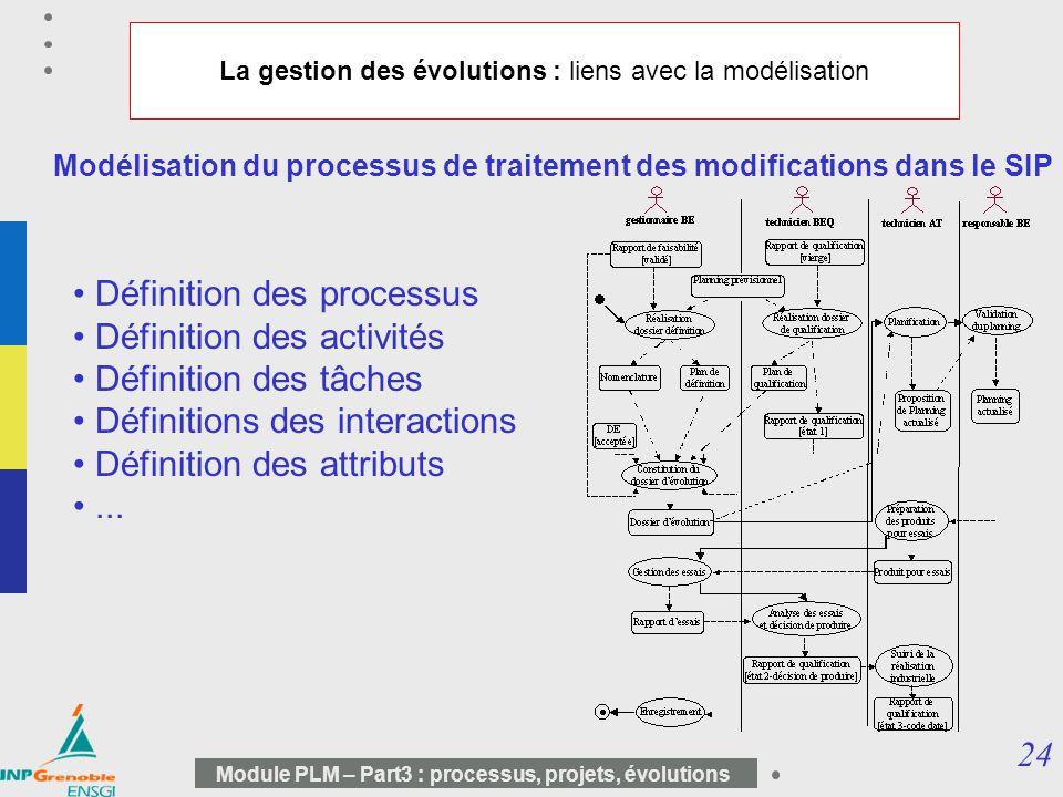 La gestion des évolutions : liens avec la modélisation