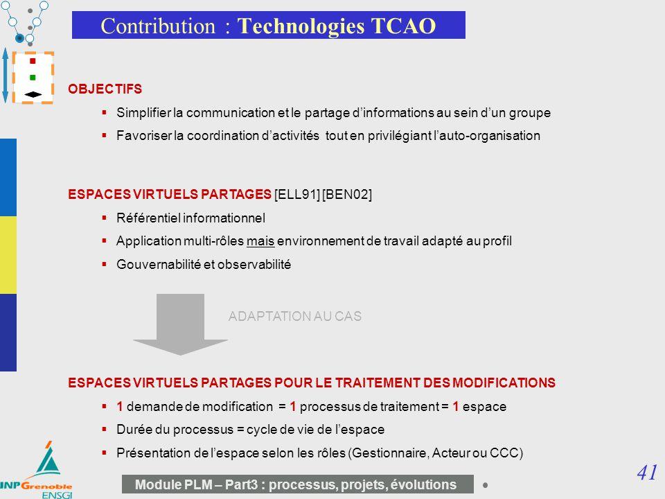 Contribution : Technologies TCAO