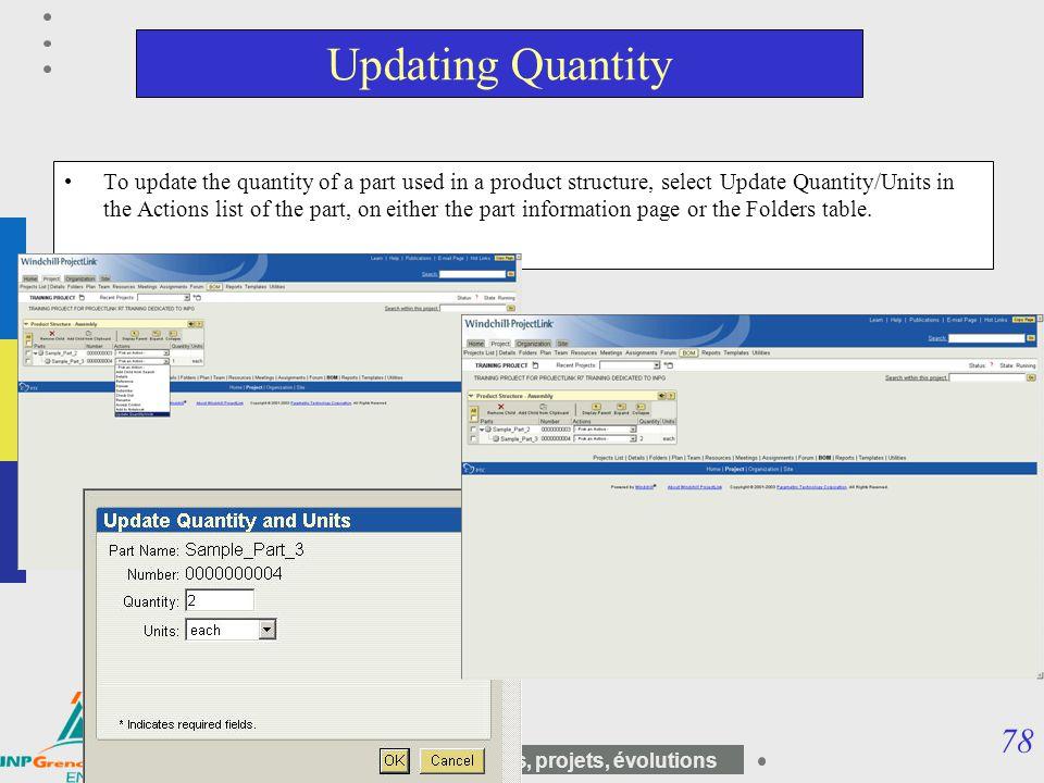 Updating Quantity