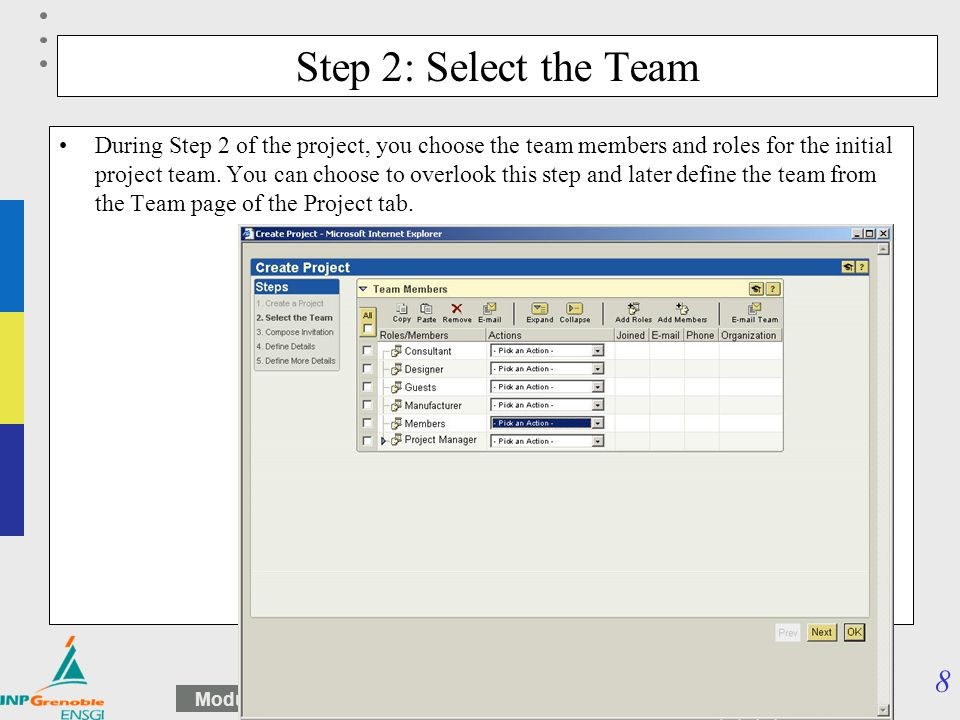 Step 2: Select the Team