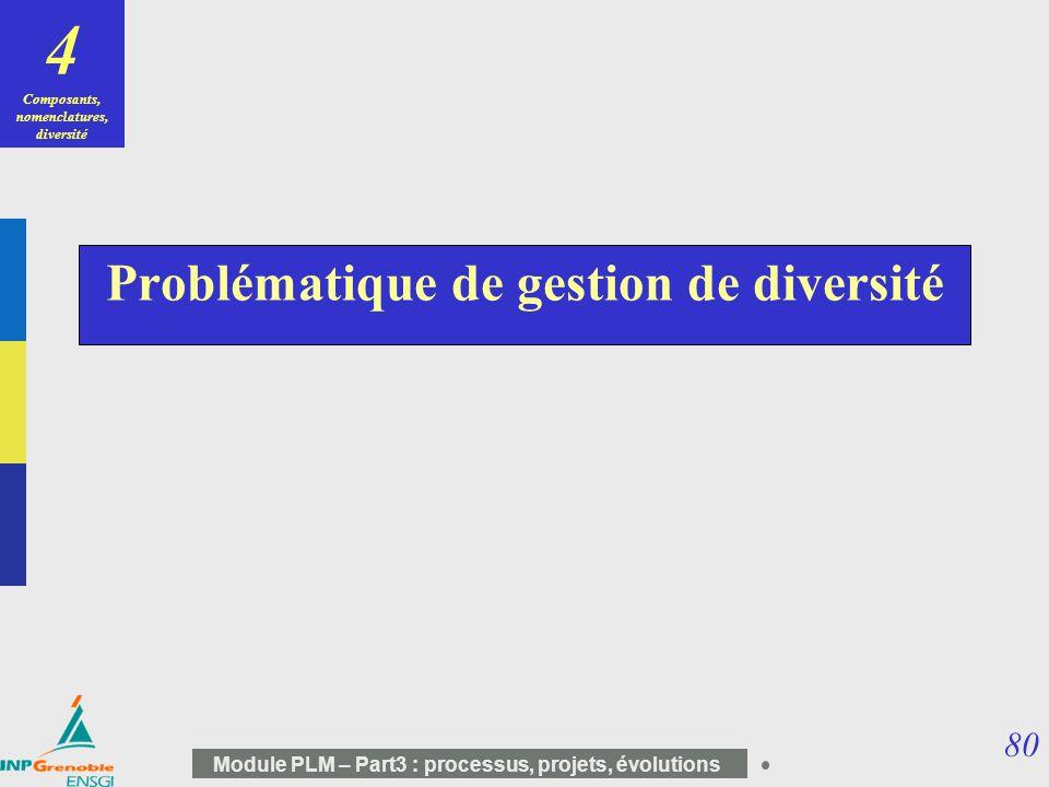 Problématique de gestion de diversité
