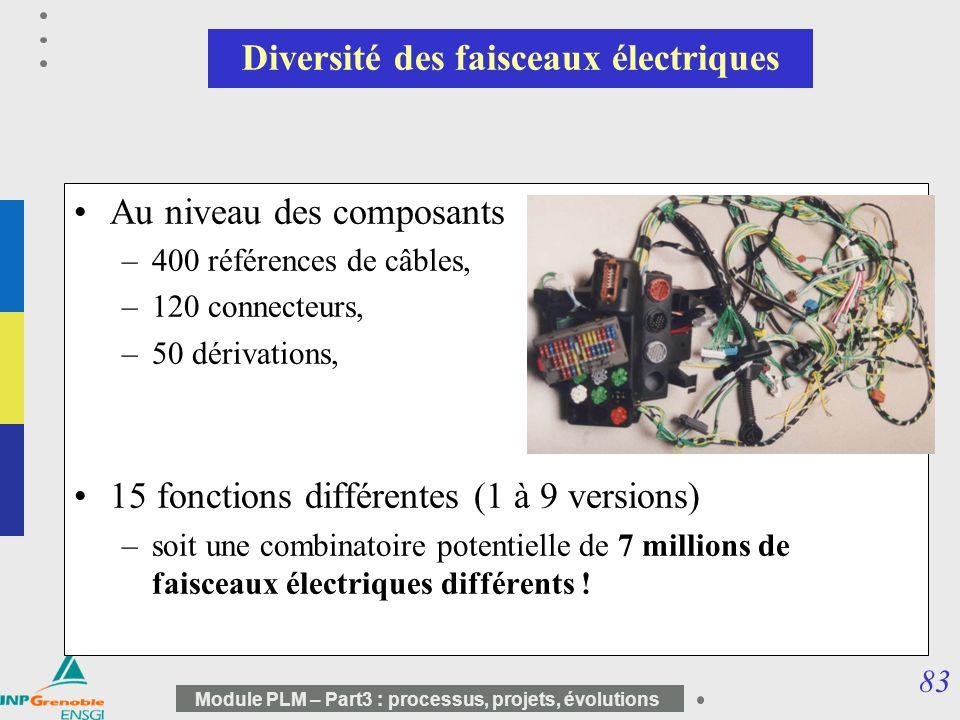 Diversité des faisceaux électriques