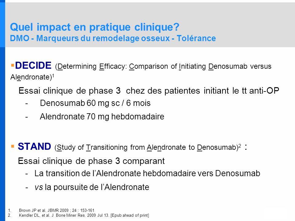 Quel impact en pratique clinique
