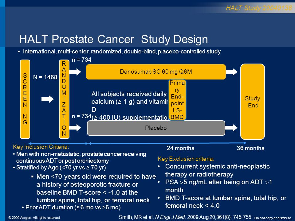 HALT Prostate Cancer Study Design
