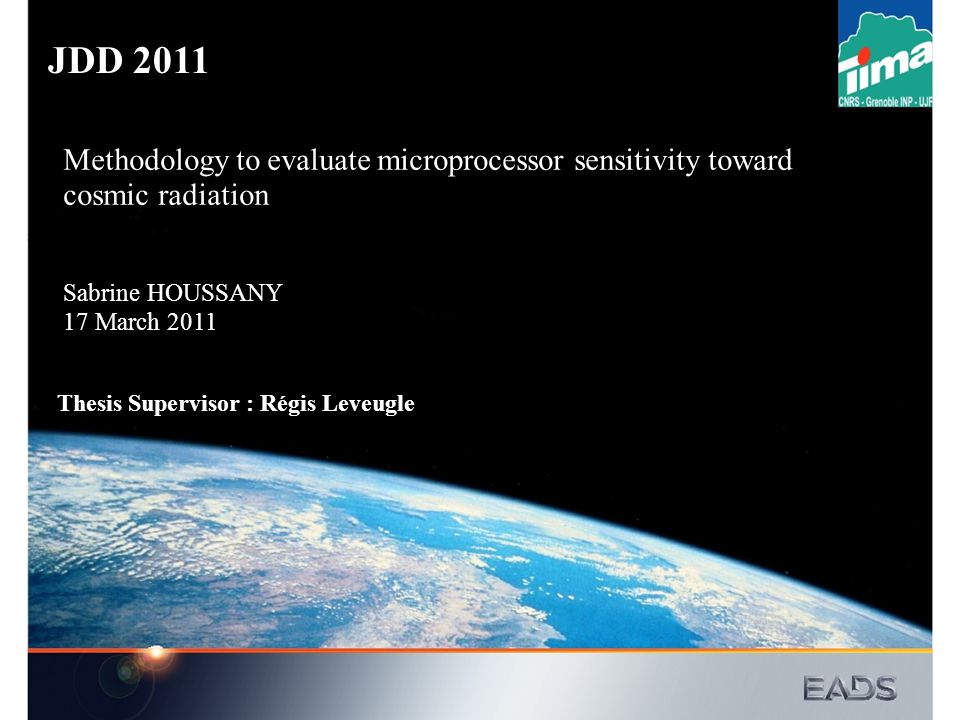 JDD 2011 Methodology to evaluate microprocessor sensitivity toward