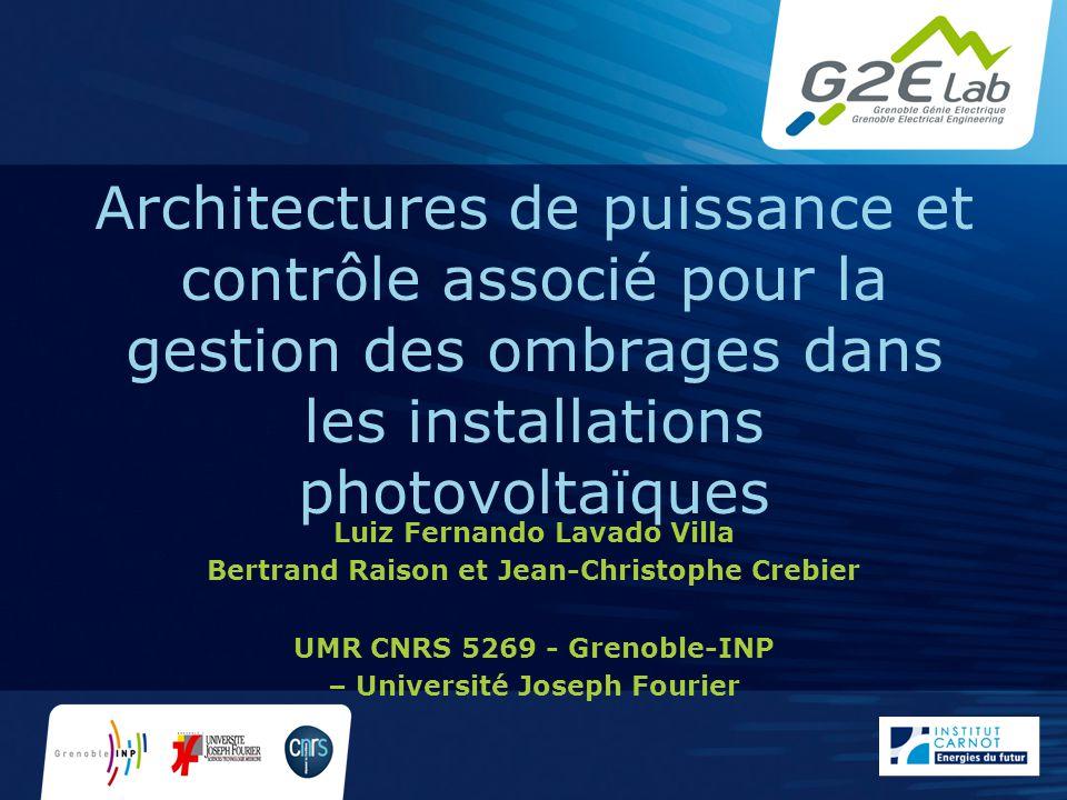 Architectures de puissance et contrôle associé pour la gestion des ombrages dans les installations photovoltaïques