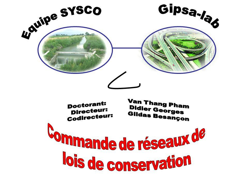 Gipsa-lab Commande de réseaux de lois de conservation Equipe SYSCO