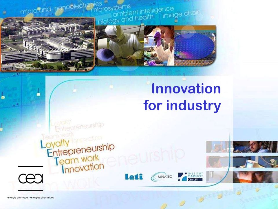 Innovation for industry