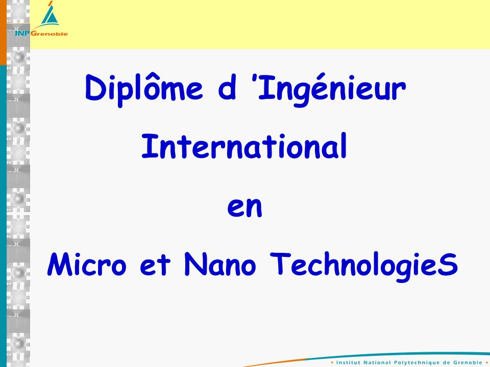 Micro et Nano TechnologieS